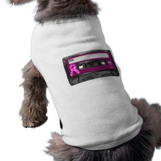 Casete de la conciencia del cáncer de pecho playera sin mangas para perro