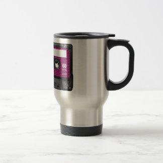 Casete de la conciencia del cáncer de pecho tazas de café