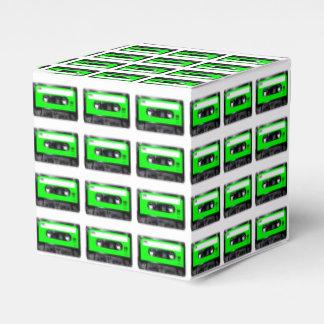 Casete de la etiqueta de la verde lima caja para regalo de boda