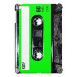Casete de la etiqueta de la verde lima iPad mini carcasa