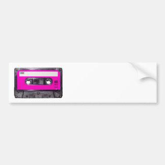 casete de la etiqueta del rosa de los años 80 pegatina de parachoque