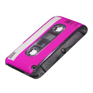 casete de la etiqueta del rosa de los años 80 iPhone 3 Case-Mate carcasa
