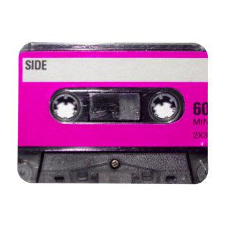 casete de la etiqueta del rosa de los años 80 imanes de vinilo