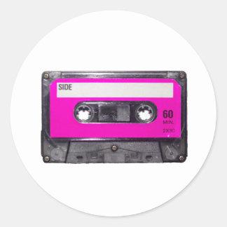 casete de la etiqueta del rosa de los años 80