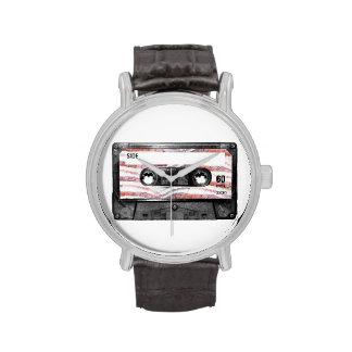 Casete de la etiqueta del tocino relojes de mano