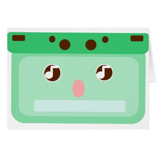 casete de música tarjeta