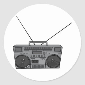 Casete de radio de Jambox del arenador del ghetto Pegatina Redonda