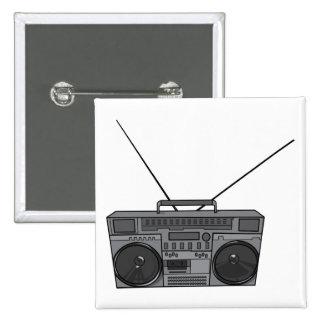 Casete de radio de Jambox del arenador del ghetto Pin Cuadrado
