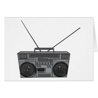Casete de radio de Jambox del arenador del ghetto Tarjeta De Felicitación