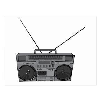Casete de radio de Jambox del arenador del ghetto Tarjetas Postales