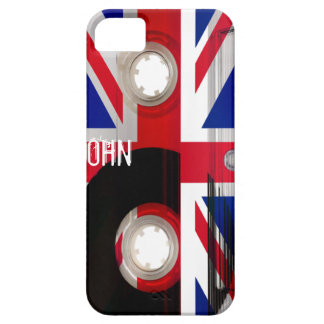 Casete de Union Jack iPhone 5 Carcasas