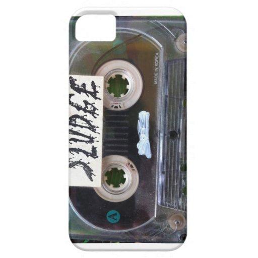 casete del barro del vintage por el sludgeart iPhone 5 funda