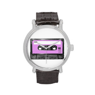Casete en colores pastel de la etiqueta de la lava relojes de mano