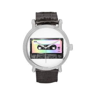 Casete en colores pastel de la etiqueta del arco i relojes de pulsera