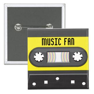 Casete fabuloso de la música con el botón de la ci