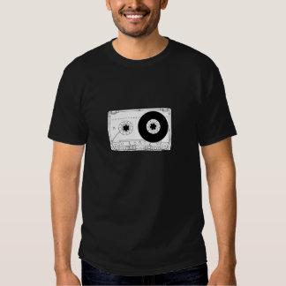 casete gráfico retro de la camiseta del vintage camisas