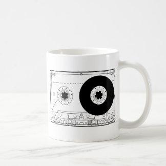 casete gráfico retro de la camiseta del vintage de taza