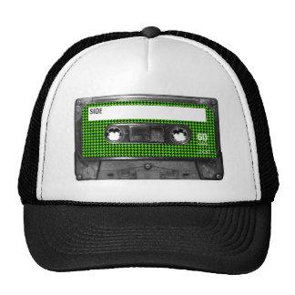 Casete negro y verde de la etiqueta de Houndstooth Gorro De Camionero