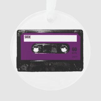 Casete púrpura de la etiqueta