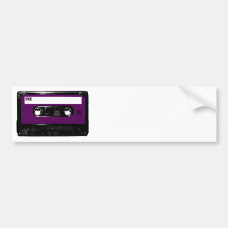 Casete púrpura de la etiqueta del vintage pegatina de parachoque