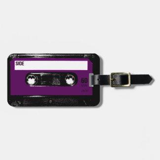 Casete púrpura de la etiqueta del vintage etiquetas bolsas