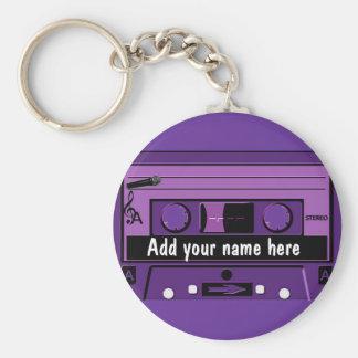 Casete púrpura Groove_ Llavero Personalizado