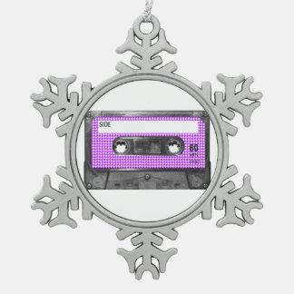 Casete púrpura y blanco de la etiqueta de Houndsto