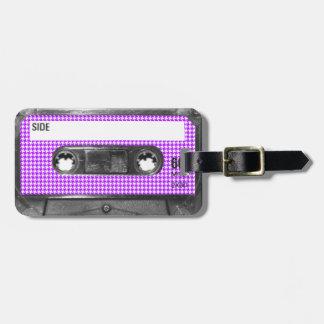 Casete púrpura y blanco de la etiqueta de Houndsto Etiquetas Bolsas