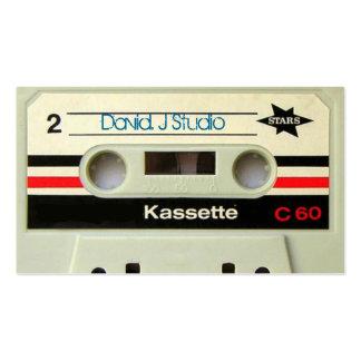 casete retro geeky del vintage de los años 80 plantilla de tarjeta de visita