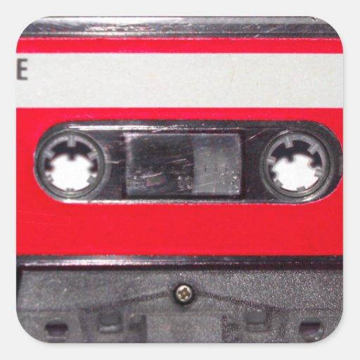 casete rojo de la etiqueta de los años 80