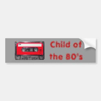 casete rojo de la etiqueta de los años 80 pegatina de parachoque