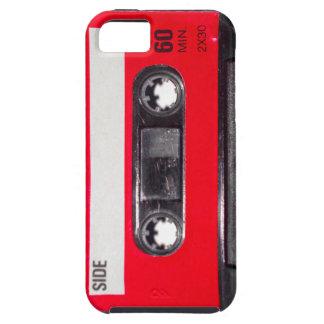 casete rojo de la etiqueta de los años 80 iPhone 5 funda