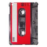 casete rojo de la etiqueta de los años 80 iPad mini coberturas