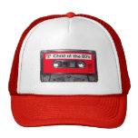 casete rojo de la etiqueta de los años 80 gorro