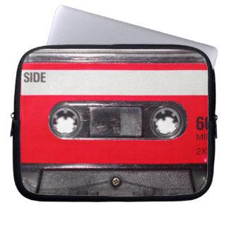 casete rojo de la etiqueta de los años 80 mangas portátiles