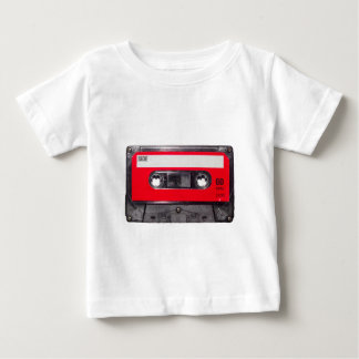casete rojo de la etiqueta de los años 80 playera de bebé