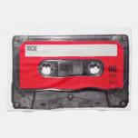 casete rojo de la etiqueta de los años 80 toalla