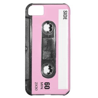Casete rosa claro del vintage funda para iPhone 5C