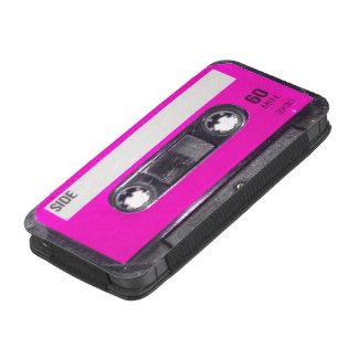 Casete rosado de la etiqueta funda para iPhone 5
