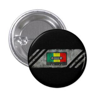 Casete urbano del reggae pin redondo de 1 pulgada