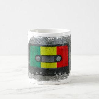 Casete urbano del reggae tazas de café
