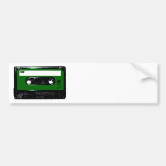 Casete verde oscuro de la etiqueta pegatina de parachoque