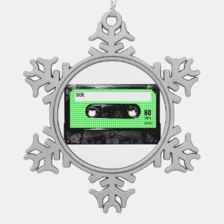 Casete verde y blanco de la etiqueta de Houndstoot
