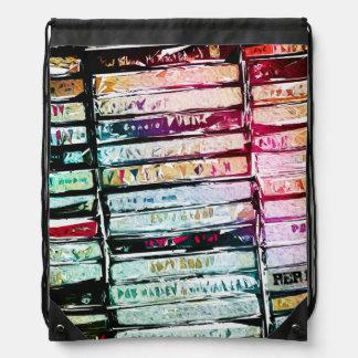 Casetes abstractos gráficos mochilas