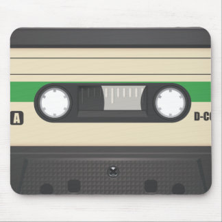 Casette Tape - Leaf Green Mouse Pad