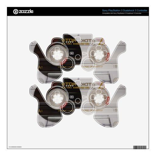 Casette Tape PS3 Controller Decals