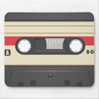 Casette Tape - Sunset Red Mouse Pad