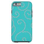 caseturquoise diamond swirlscase iPhone 6 case