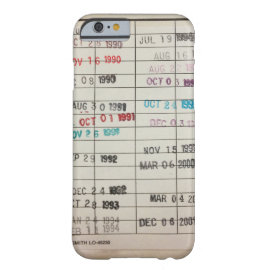 caseVintage Library Due Date Cardscase iPhone 6 Case
