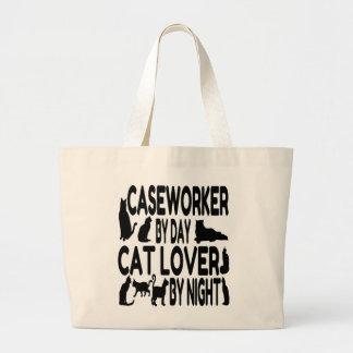 Caseworker del amante del gato bolsas de mano